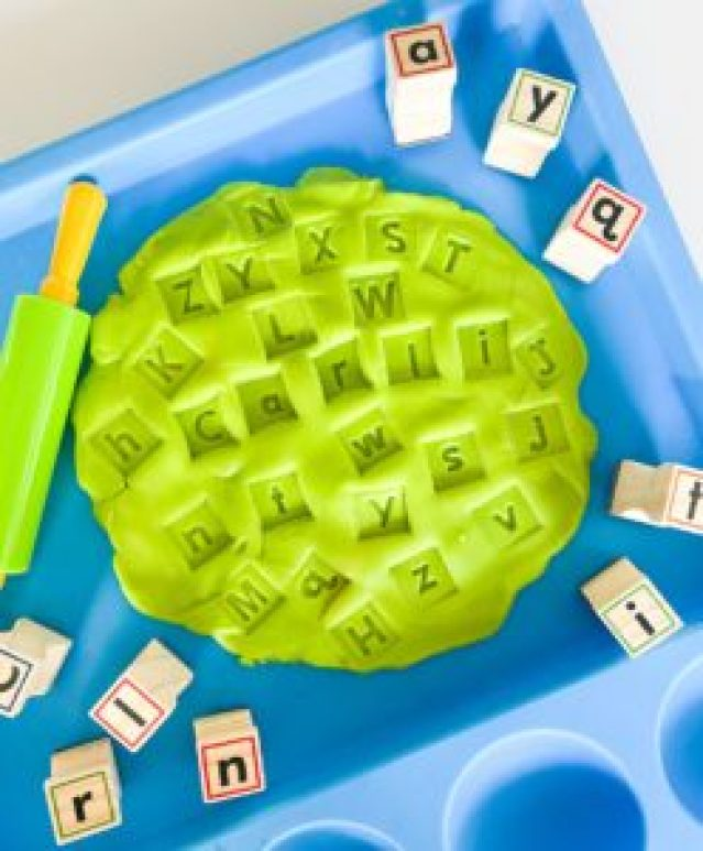 playdough letters