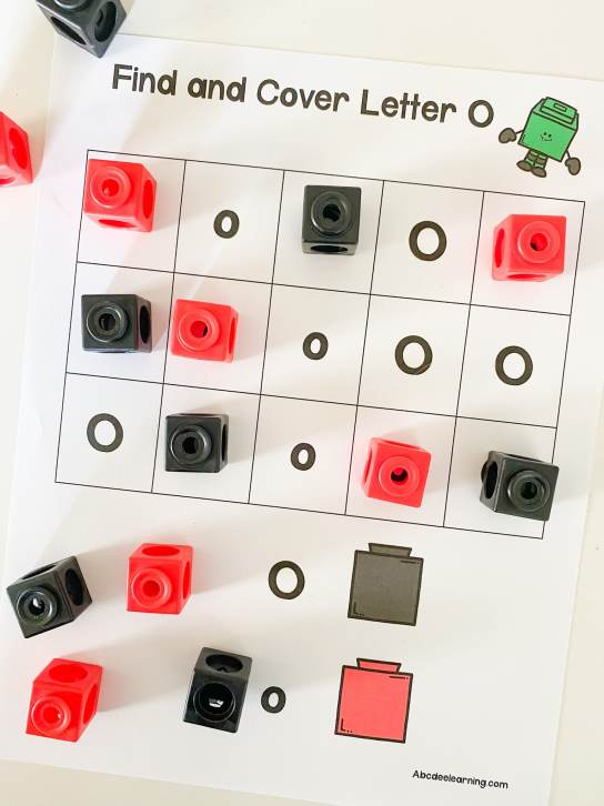 letter o counting cubes