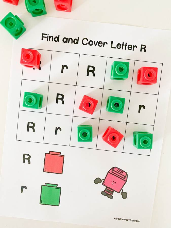 letter r find and cover
