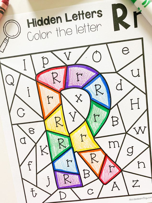 letter r find it coloring