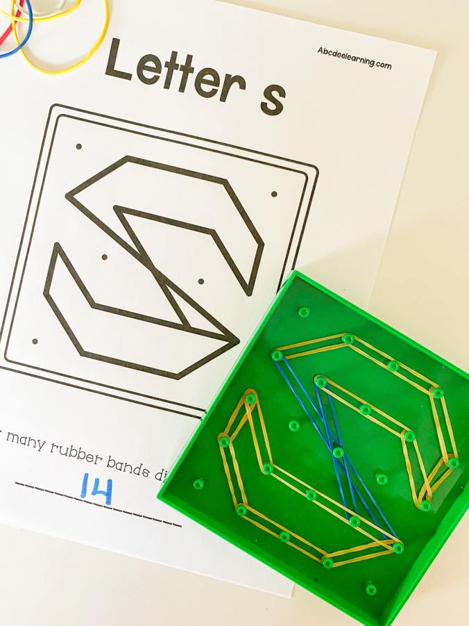 letter s geoboard printable