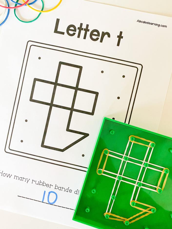letter t geoboard activity
