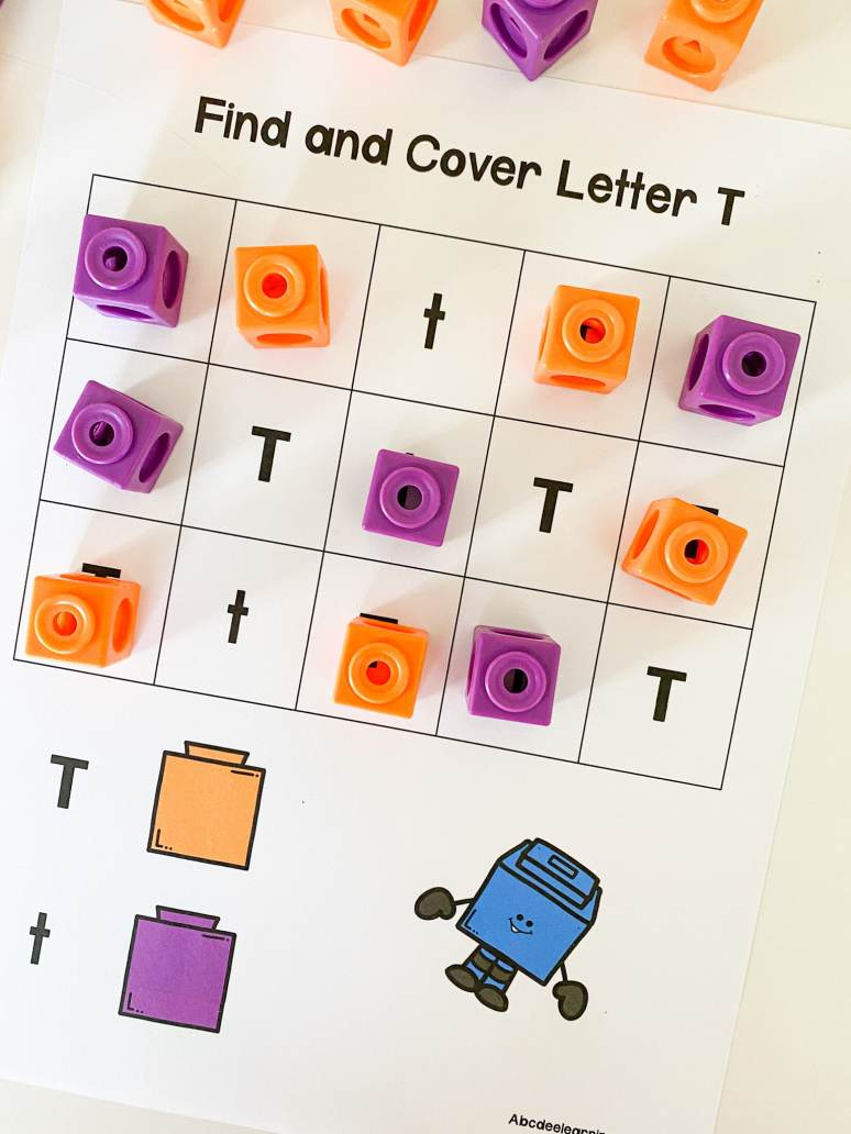 letter t find and cover printable
