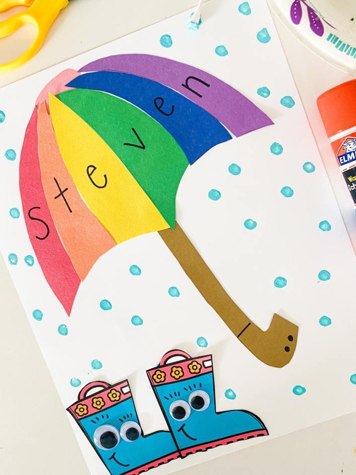 letter u umbrella name craft