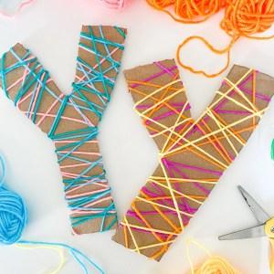 letter y yarn wrapping