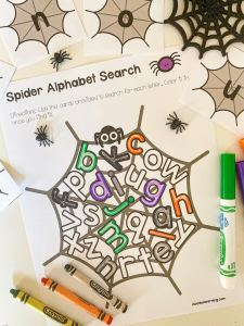 spider alphabet search