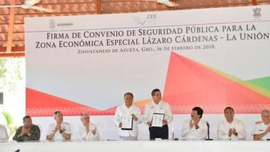 Photo of Firma el gobernador Héctor Astudillo convenio de seguridad pública para la zona económica especial Lázaro Cárdenas – La Unión