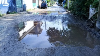"Photo of Piden arreglo del acceso principal a ""Las Pozas"" que está pésimo"