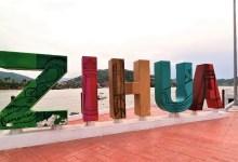 Photo of A 6 meses las letras ZIHUA del muelle principal ya están muy deterioradas