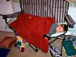 Napping boy