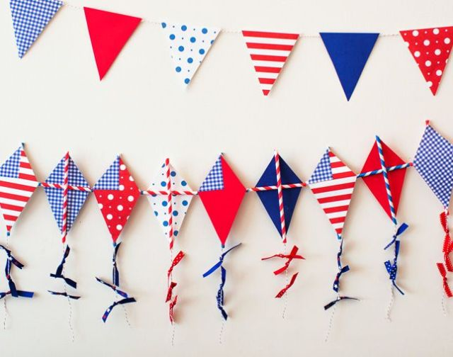 4th of July kite Garland