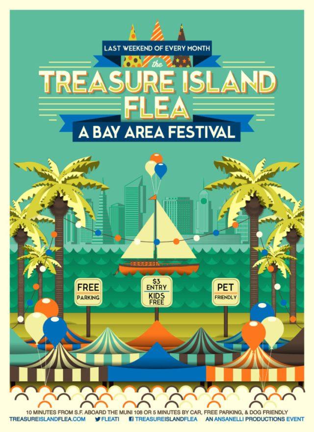 Weekend poster for summer flea festival