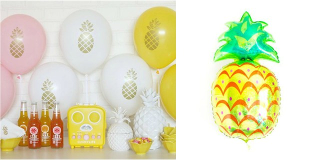 Pineapple balloon collage