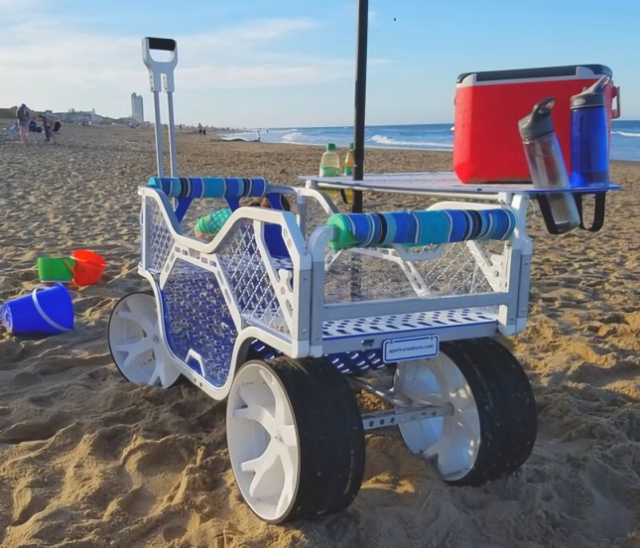 Sport Wagon in the sand on a beach