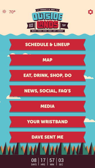 outside lands app also similar to Outside Lands 2016 App
