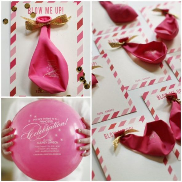 DIY Balloon Invitations