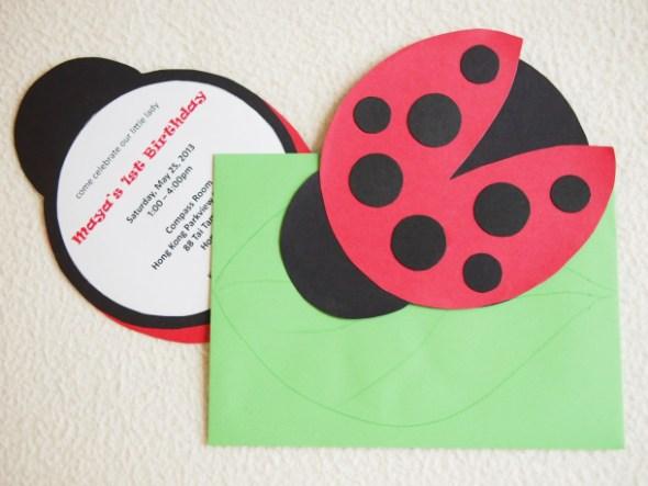 DIY Ladybug Invitations