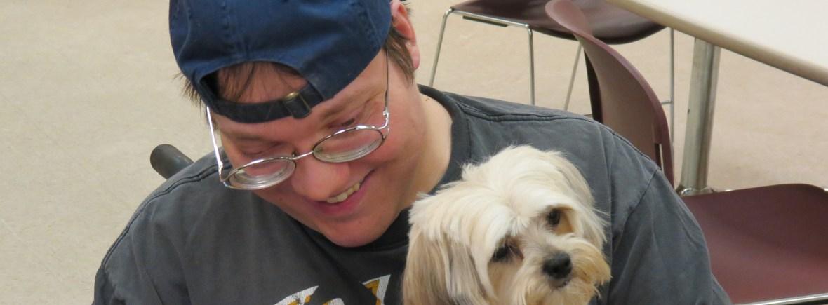 AU participant and dog.