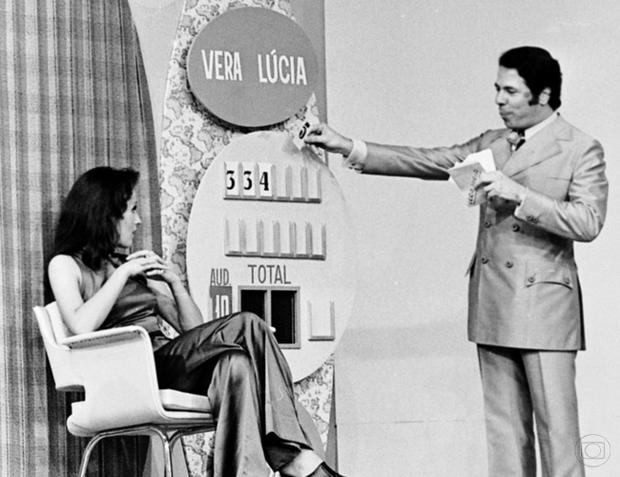 Programa Silvio Santos na Globo (Foto: Memória Globo)
