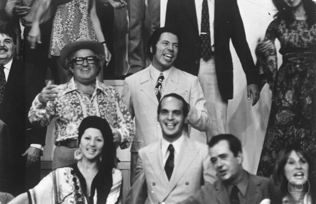 Silvio Santos na vinheta de fim de ano da Globo de 1972 (Foto: Acervo Globo)