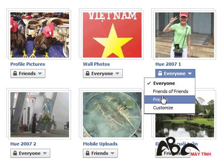 Một số thiết lập riêng tư trong Facebook