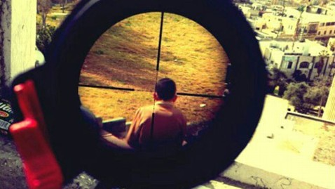 ht israeli soldier instagram lpl 130218 wblog Israeli Sniper Posts Photo of Child in Crosshairs