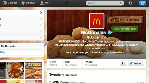 ht burger king twitter hack tk 130218 wblog Burger King Twitter Account Hacked to Look Like McDonalds
