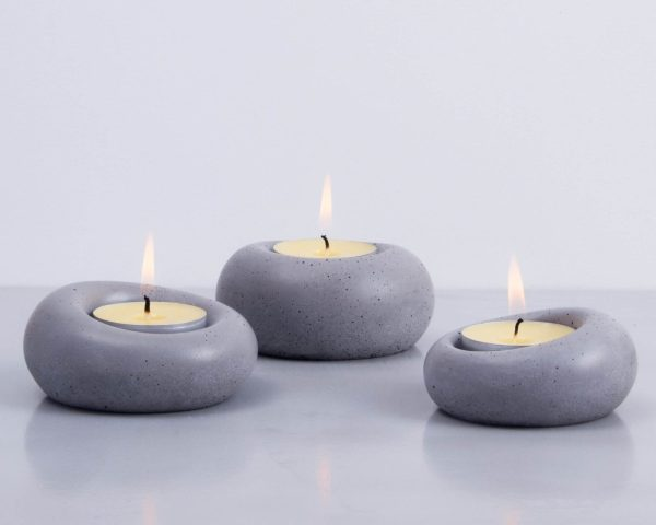 Designer tealight holder family - set of three