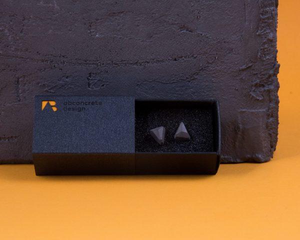 Geometric shaped concrete earrings with elegant giftbox