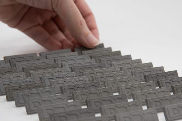 Concrete pins for Duna-Dráva Cement factory's corporate uniform