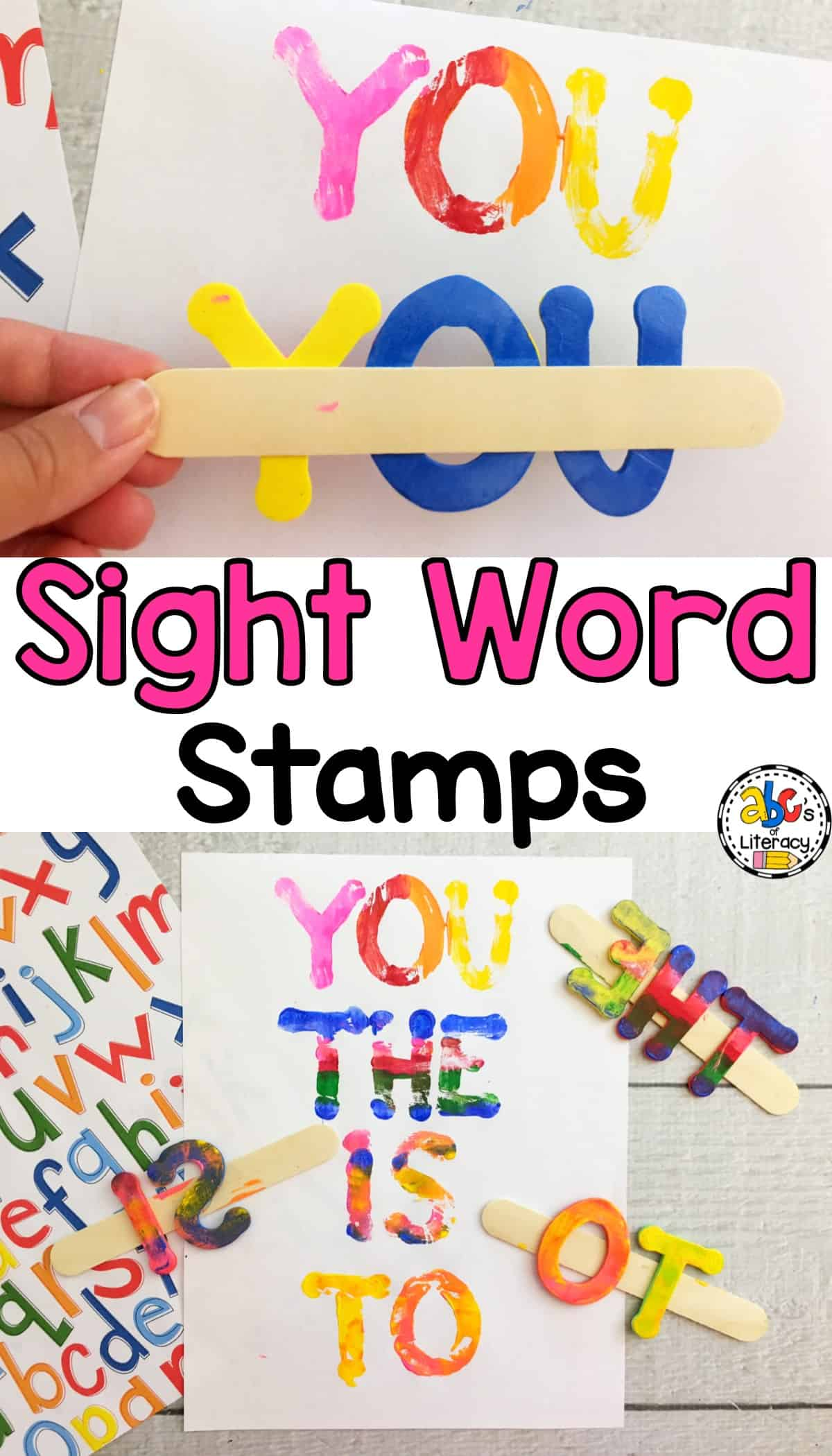 How To Make Sight Word Stamps For Literacy Centers