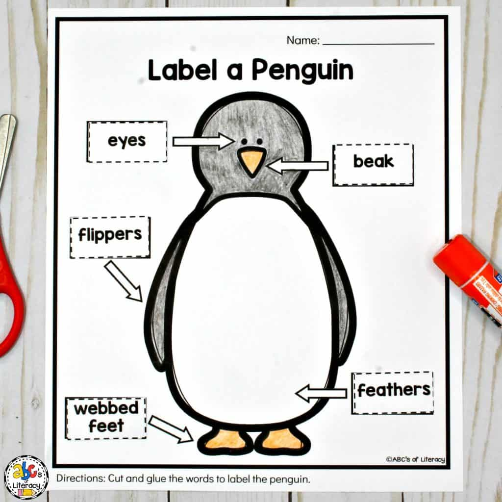 Kindergarten Winter Worksheet Labeling