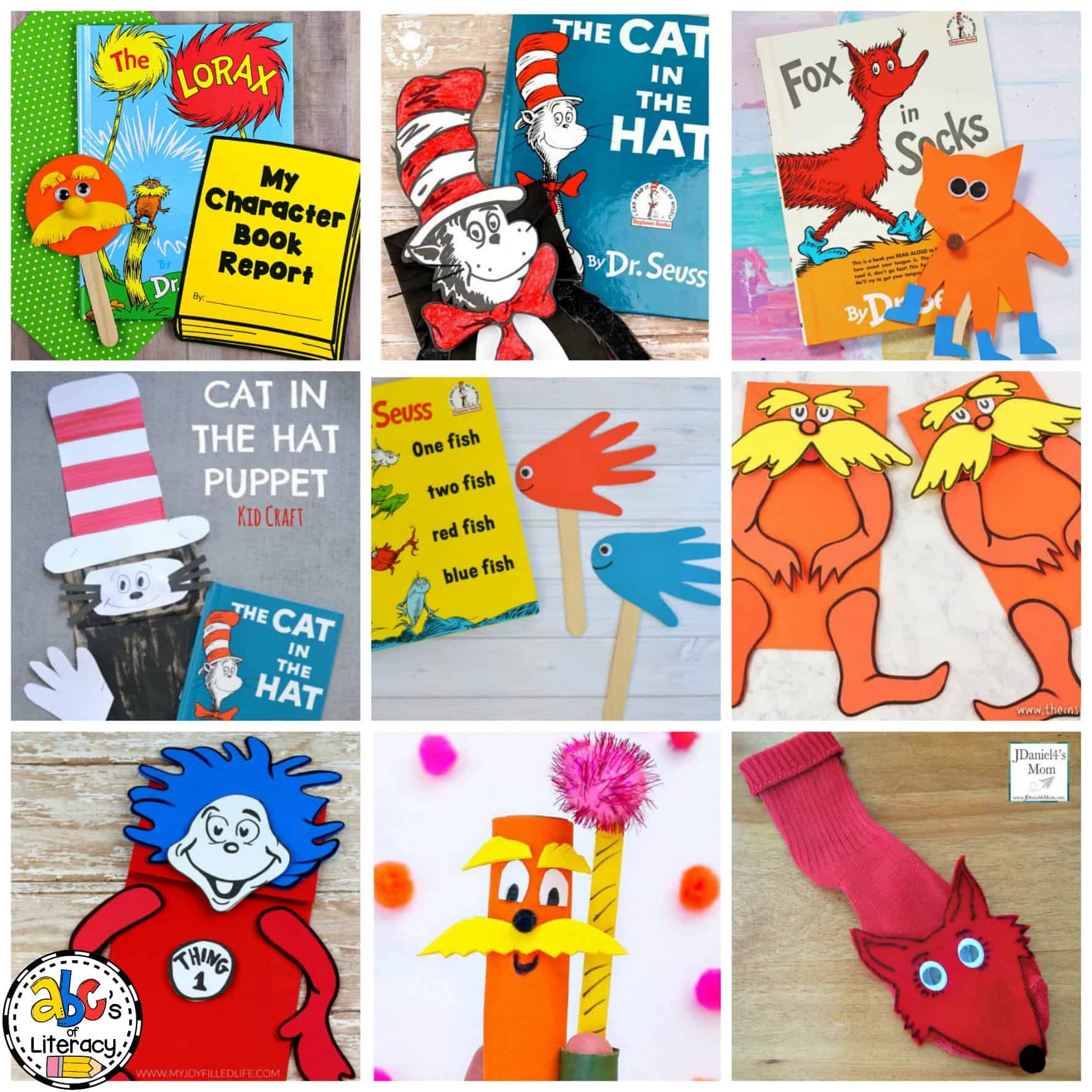 Dr Seuss Inspired Puppets Crafts For The Dr Seuss Author