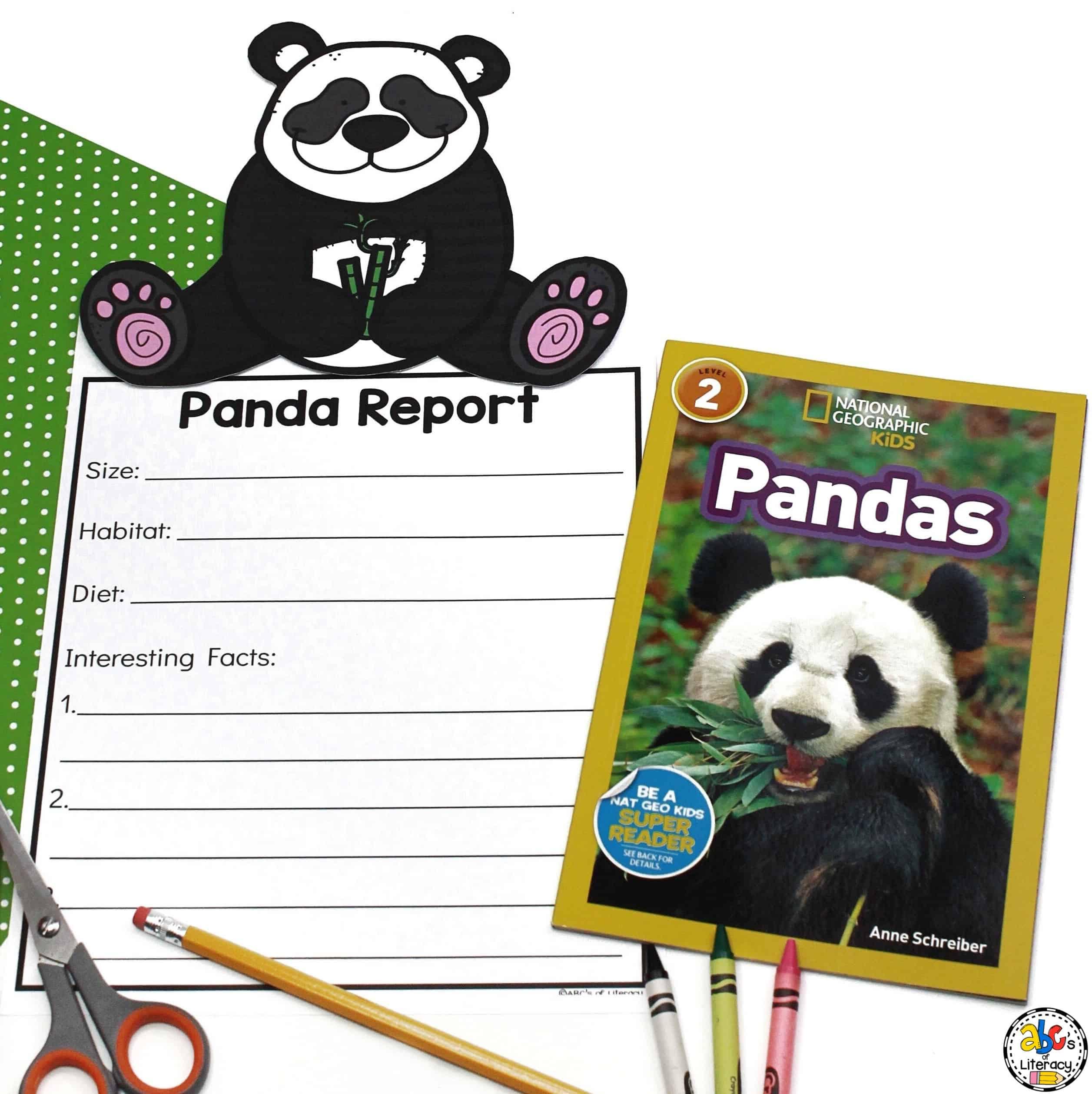 Panda Report Animal Research Amp Writing Report For Kids