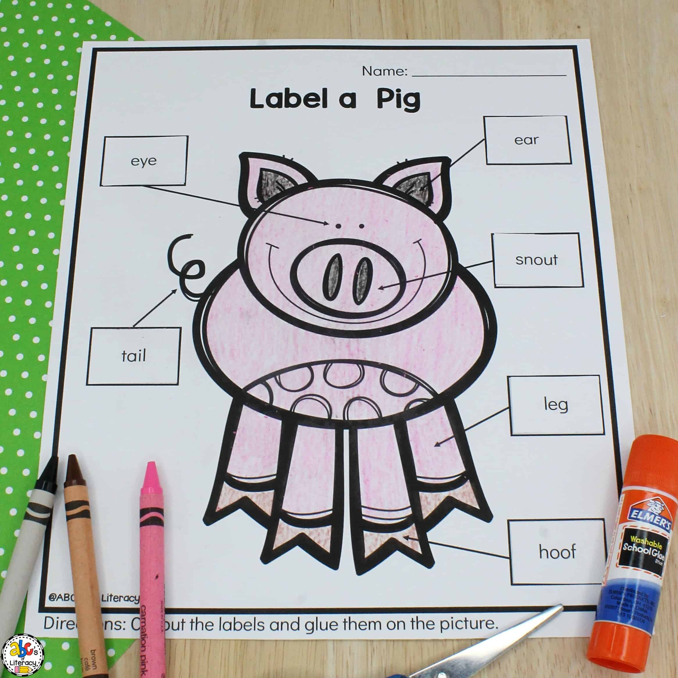 Label A Farm Animal Worksheets