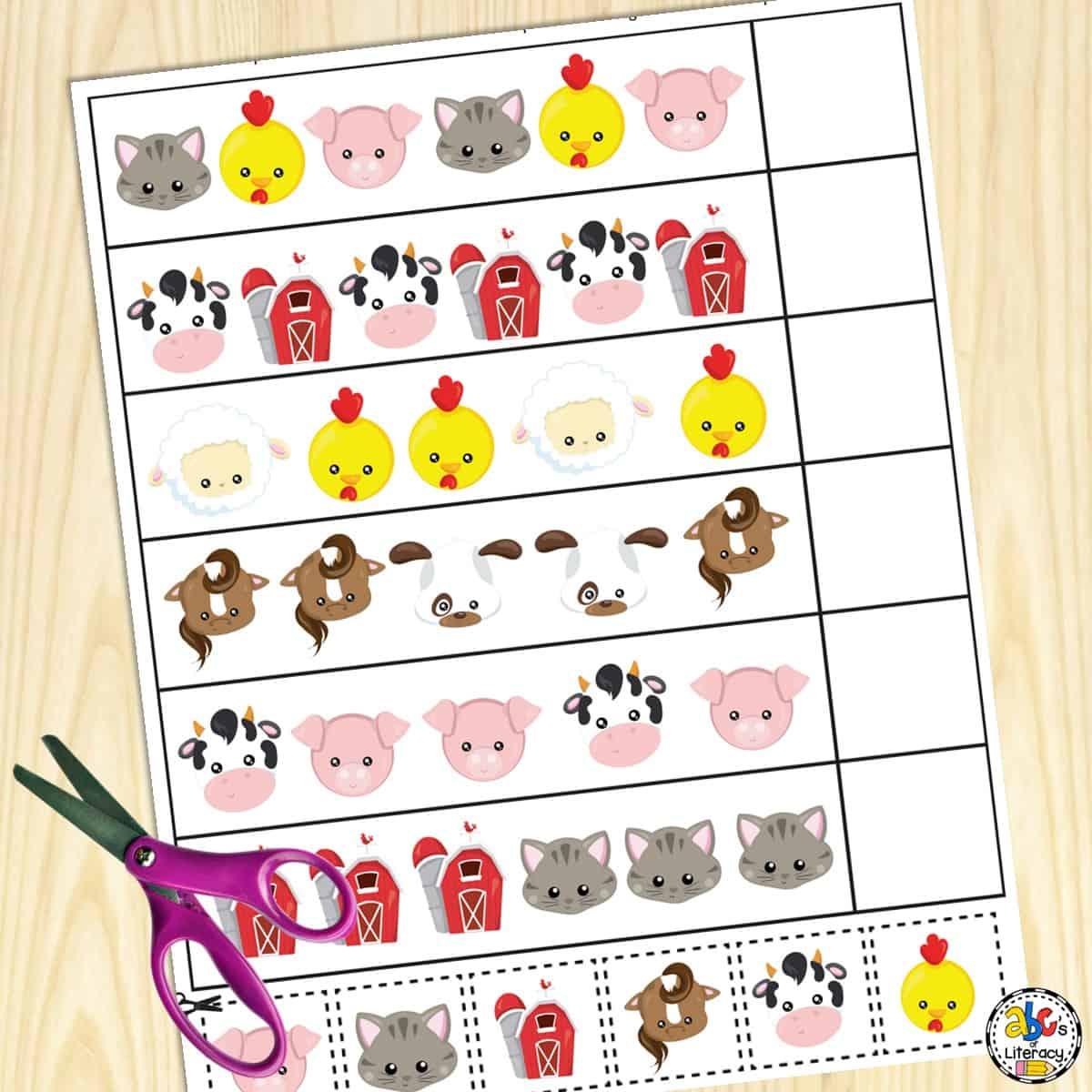 Farm Preschool Worksheets Free Printables For Preschools