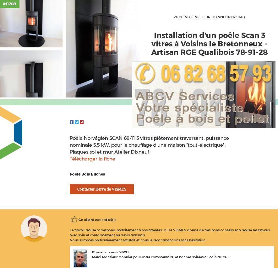 Poele A Bois Voisins Le B Abcv Services Chauffage A Bois Et Granules