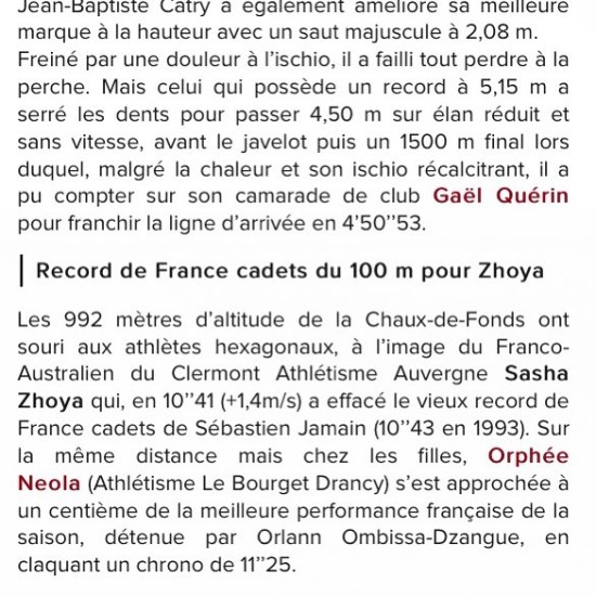 Fière de notre athlète @neola_orphee #performance #toplevel #trackandfields #athletisme #athlétisme #goodjobs #onenredemande #93empire  un article de plus - from Instagram
