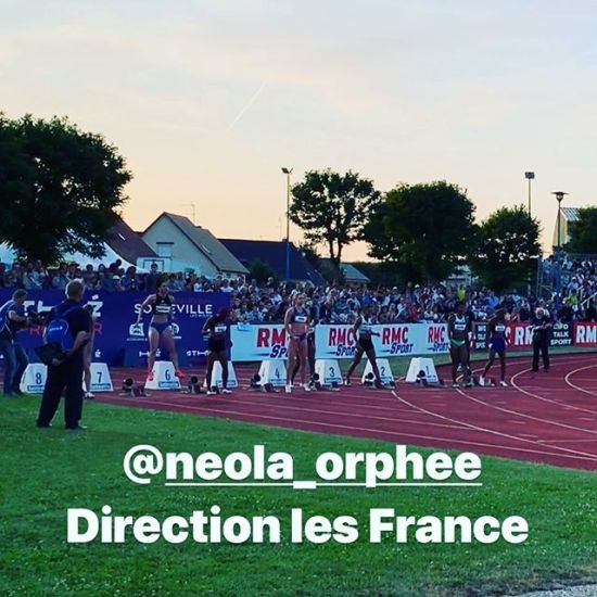 @neola_orphee au départ du 100m #cestlemoment #sprint #100m #meeting - from Instagram