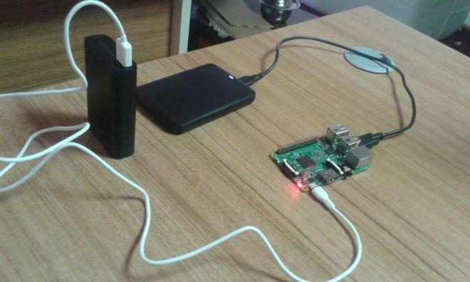 Raspberry Pi 3 ve Hard Disk