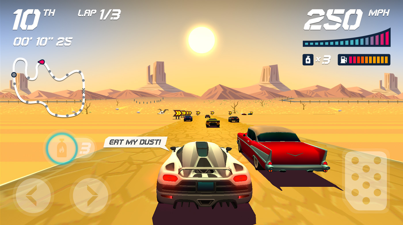 Nostalgic Game Design for Horizon Chase