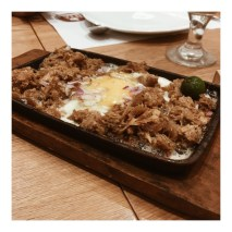 Grilled Sisig with Egg [P200.00]
