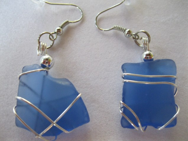 BEACH GLASS EARRINGS
