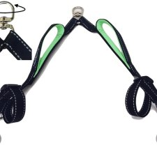 Double Reflective Leash With Two Padded Handles