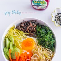 Fuel After a Run: Spring Vegetarian Bibimbap