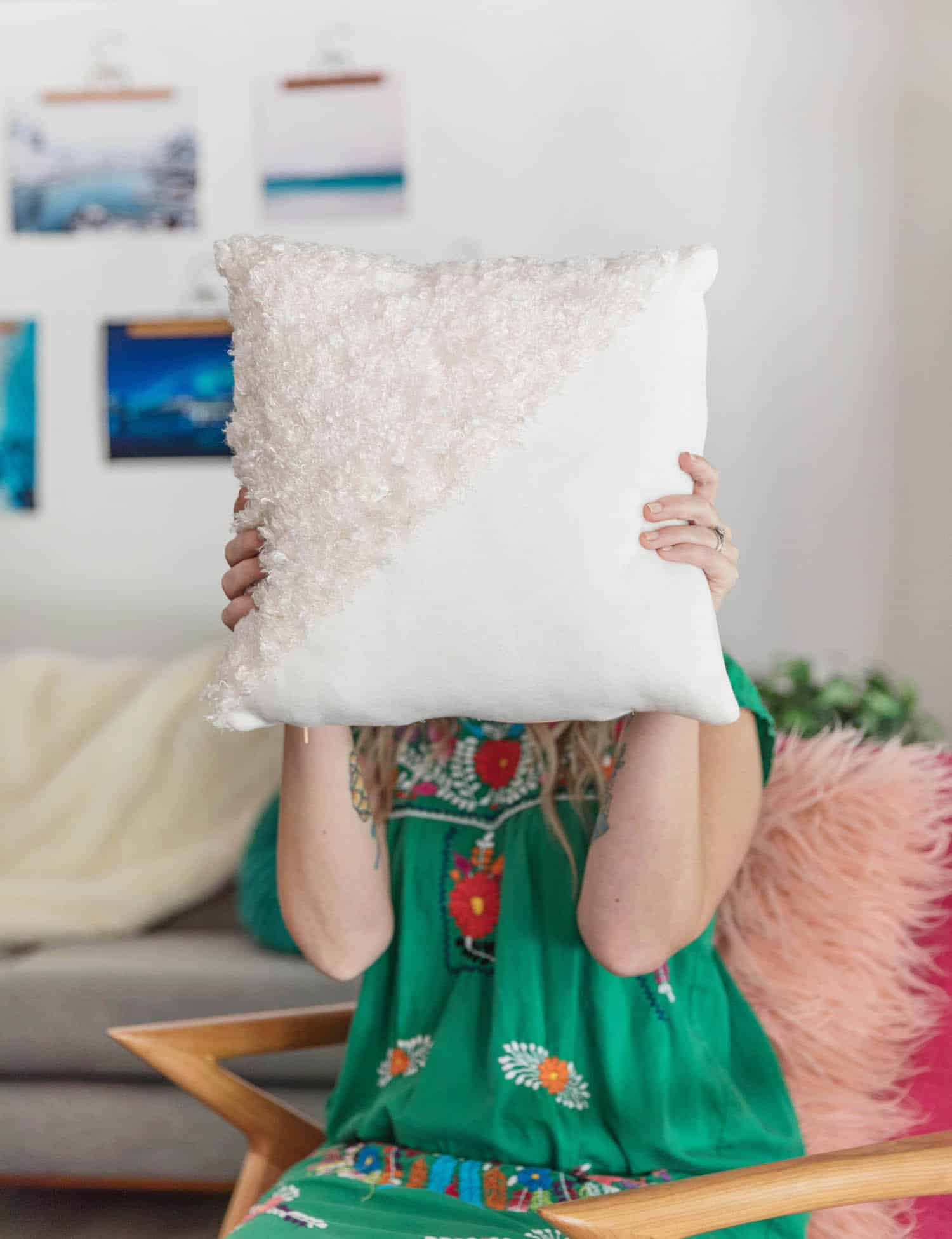 how to sew a zippered throw pillow a