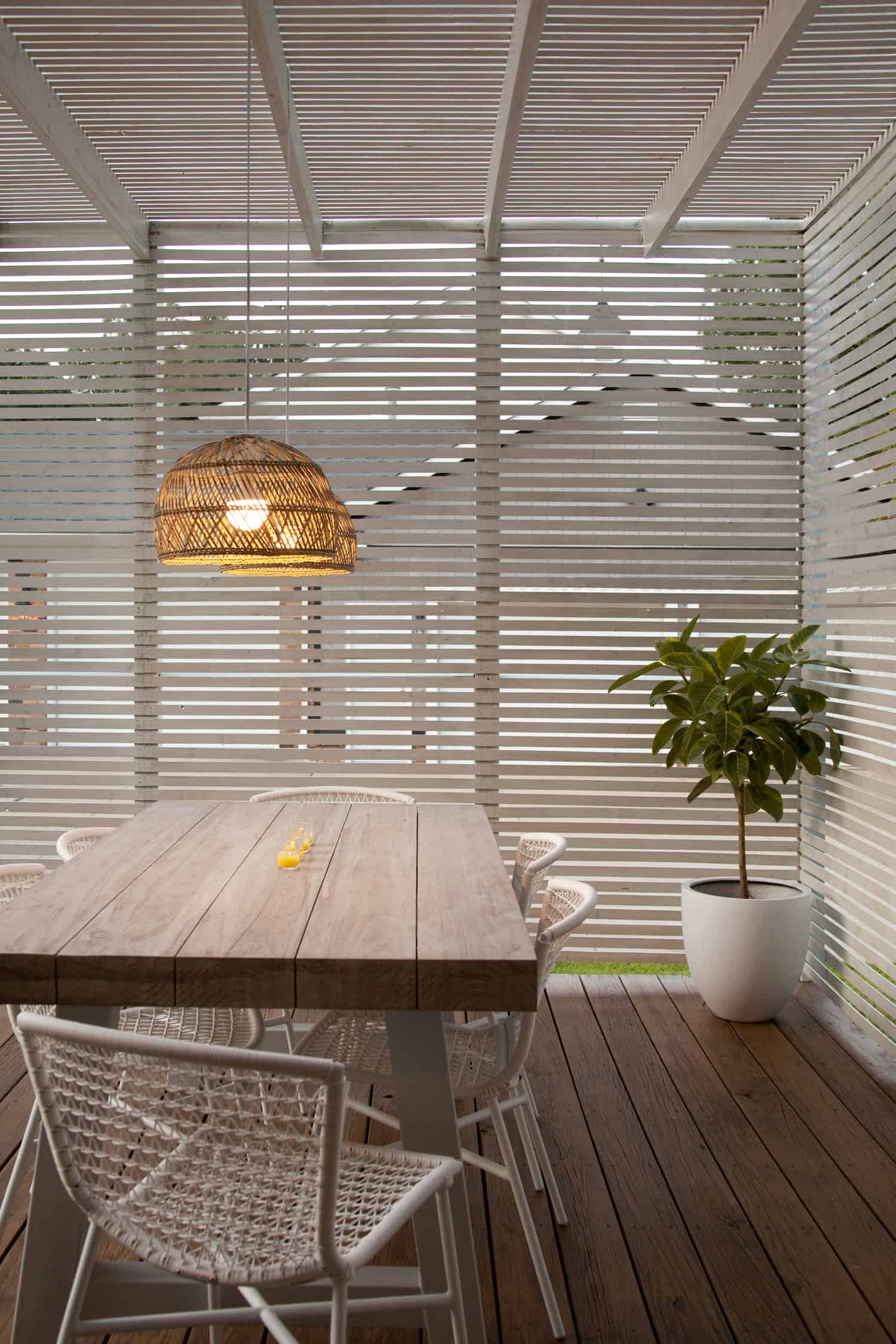an indoor pendant light for outdoor use