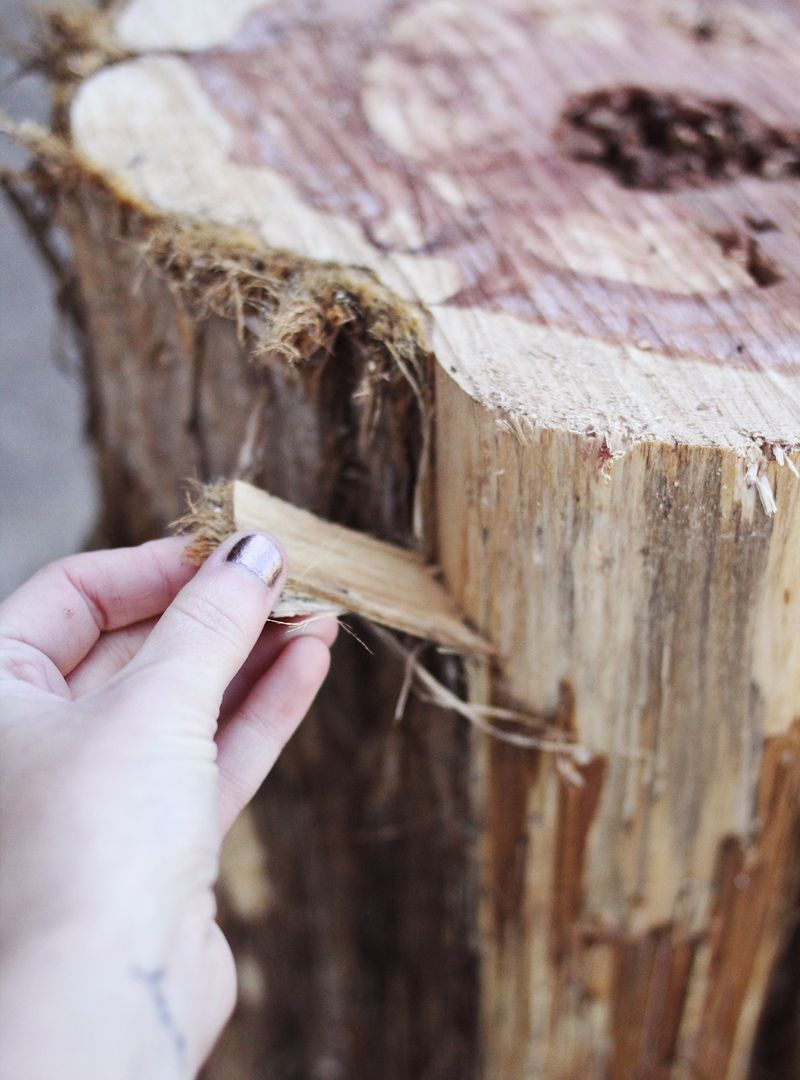 diy tree stump side tables a