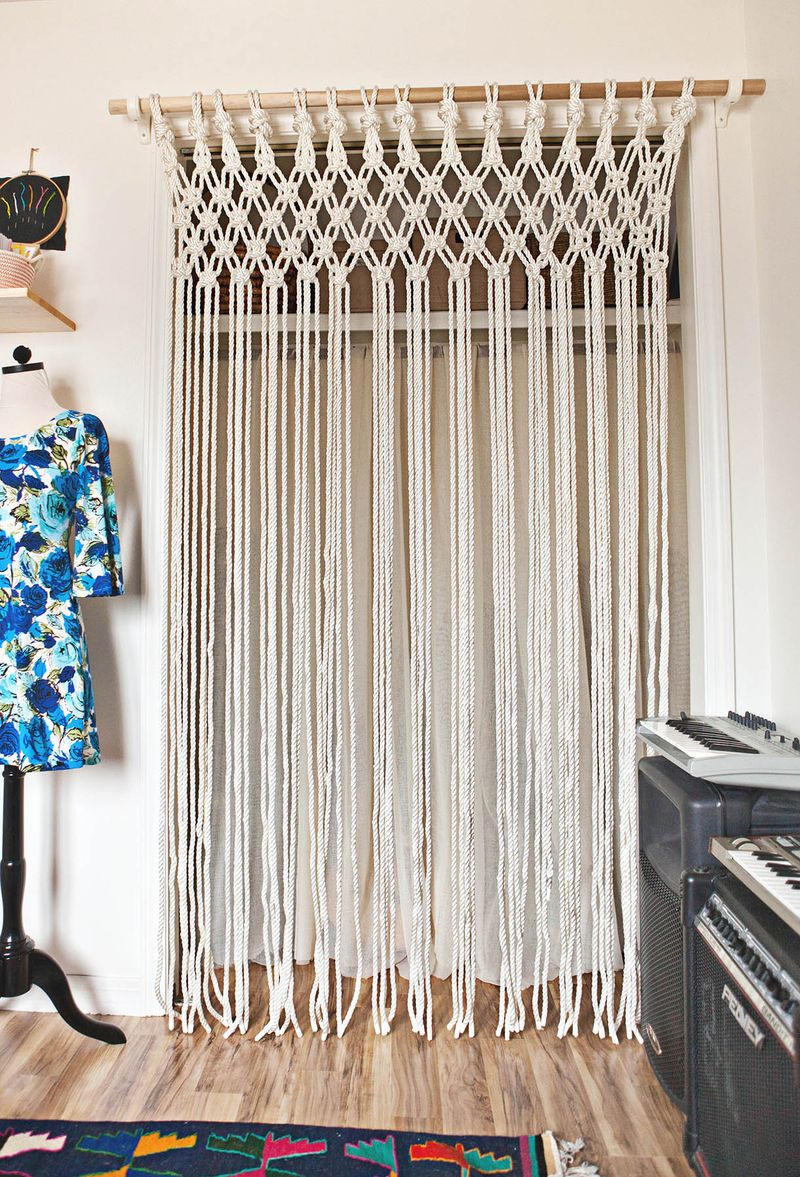 make your own macrame curtain a