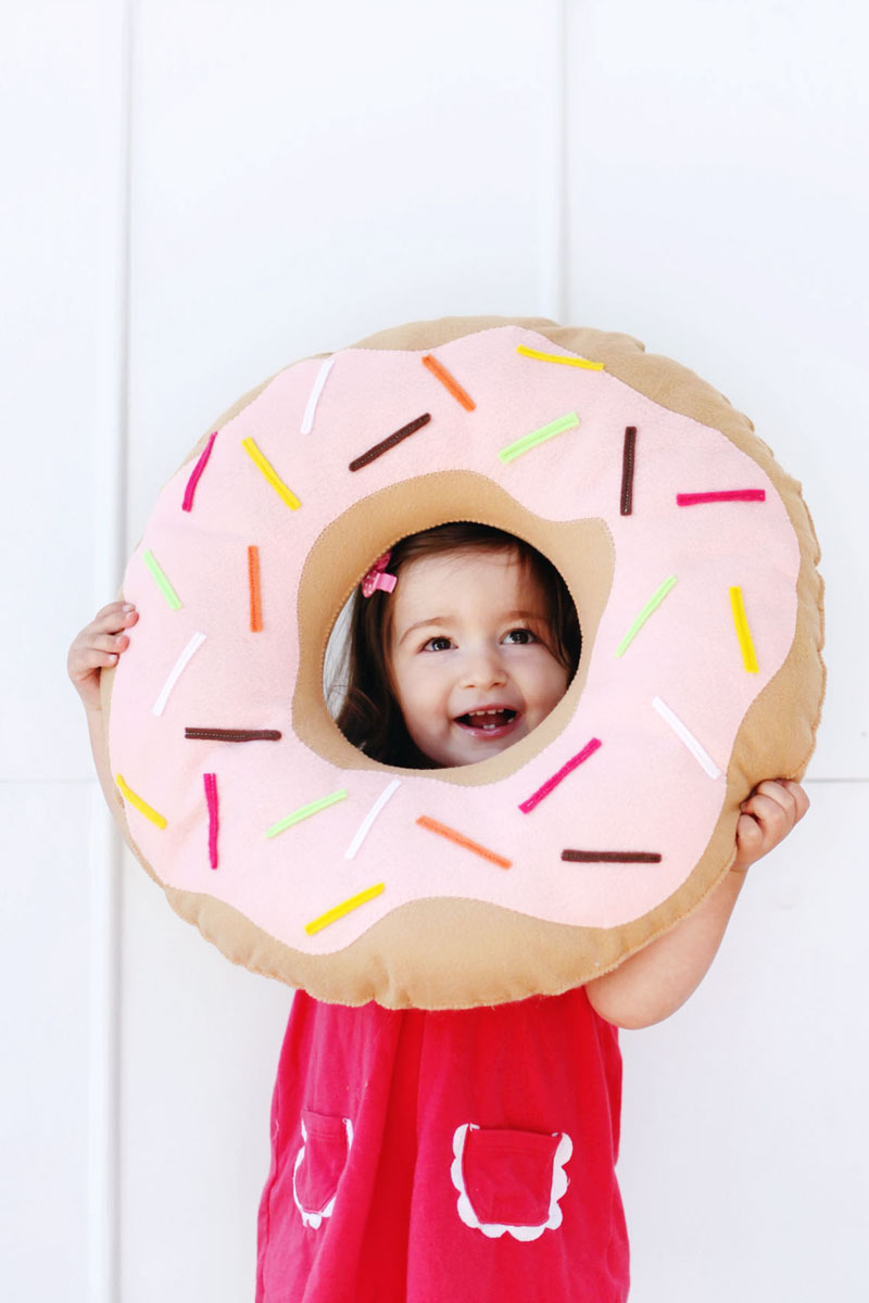 simple and sweet donut pillow a beautiful mess